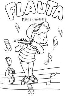 nod printable coloring page instruments for musical kiddos