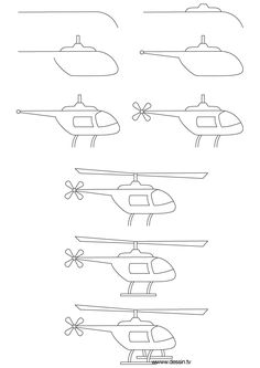 How to draw a helicopter step by step (kids, art lesson)