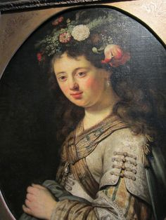 A contemporary copy of Saskia as Flora by a Rembrandt pupil