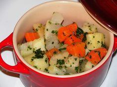 Légumes d'hiver en cassolette Chou Rave, Celerie Rave, Potato Salad, Mashed Potatoes, Veggies, Gluten, Ethnic Recipes, Oui, Chefs