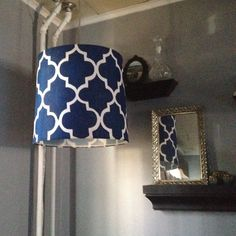 Painted lamp shade