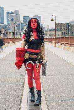 My female version of Hellboy #genderswap