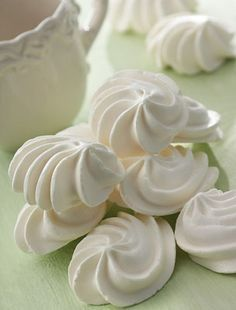 Smith's Food and Drug - French Meringues Cuban Recipes, Sweet Recipes, French Meringue, Cookie Recipes, Dessert Recipes, Meringue Cookies, Cakes And More, Chocolates, Christmas Cookies