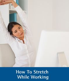 How to Stretch While Working: pin this helpful tip and immediately feel less stressed after your stretch.
