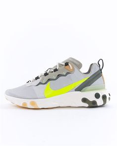 save off cffe3 63ebc Nike React Element 55   BQ6166-009   Grön   Sneakers   Skor