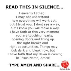This is so so so true and it's all good for the faith hope and open heart ❤️ is to the Lord Amen 🙏 Prayer Scriptures, Bible Prayers, Catholic Prayers, Faith Prayer, God Prayer, Power Of Prayer, Prayer Quotes, Bible Verses Quotes, Faith In God
