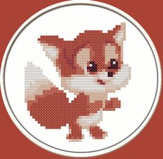 Hey, I found this really awesome Etsy listing at https://www.etsy.com/listing/182985933/fox-pup-pdf-downloadable-printable-cross