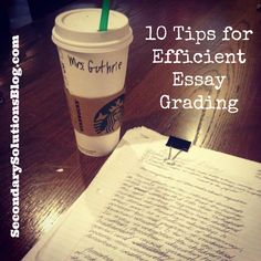 For me, grading essays is one of the most challenging aspects of teaching high school English (see my top 10 here). I dont have a problem with deciphering handwriting or subjectively evaluating a written piece. I have a problem with the incredibly long h Teaching Writing, Teaching Strategies, Teaching Tips, Essay Writing, Persuasive Essays, Literary Essay, Teaching Techniques, Student Teaching, Writing Skills