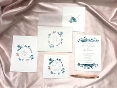 Floral Wedding Invitations, Wedding Stationery, Watercolour Invites, Stationery Design, Rsvp, Signage, Cards, Maps, Playing Cards