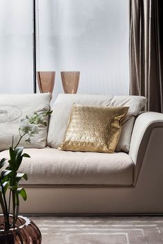 Fendi Casa - Exclusively ☆☆ Love the gold accent