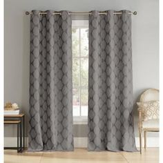 Heighten the drama of your elegant living room by adding these blackout energy-saving window panel curtains to your windows. Their blackout features include noise reduction, room darkening, energy Saving Ikat Curtains, Grommet Curtains, Window Curtains, Blackout Panels, Blackout Windows, Blackout Curtains, Drapery Panels, Window Panels, Room Cooler