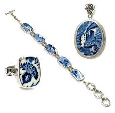 Lochs of Scotland Broken China Jewelry by www.brokenchinajewelryshop.com