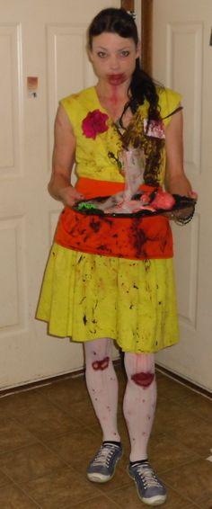 yellow dress costume zombie