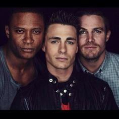 Stephen Amell, Colton Haynes and David Ramsey