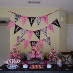 Pink Zebra Birthday  Put it all together