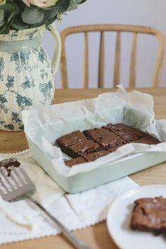Simple Salted Caramel Brownies | What Olivia Did