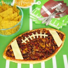 Mushroom-filled football tart. But, really, you can fill a football tart with anything. (Let's think cheese. Lots of cheese!)