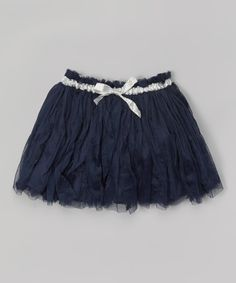 Look at this Pearls & Popcorn Navy Operetta Skirt - Infant & Toddler on #zulily today!