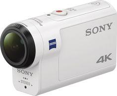 Sony - 4K Waterproof Action Camera - White