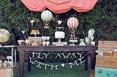 fly away with me!! cute...bon voyage...a birthday party, where the gift is an overseas trip..a marriage proposal....