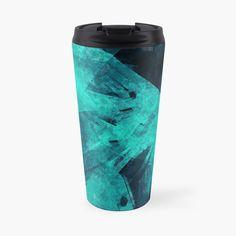 'Blue Please' Travel Mug by Beer-Bones Mug Designs, Travel Mug, Bones, Water Bottle, My Arts, Art Prints, Steel, Mugs, Dark