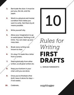 Rules for Writing First Drafts