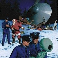 """danismm: """"latest ufo sightings: best wishes """" .when Santa gets t-boned by a drunk alien. Nobody believes the police report which, lets be honest, is their own fault at this point. Christmas Ad, Christmas Humor, Christmas Presents, Science Fiction, Arte Alien, Alien Vs, Aliens And Ufos, Illustration, Funny Bunnies"""