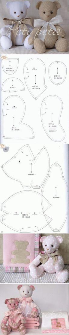 Текстильный мишка Тильда. Выкройка