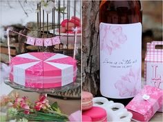 Pretty little cake slice boxes and treat boxes