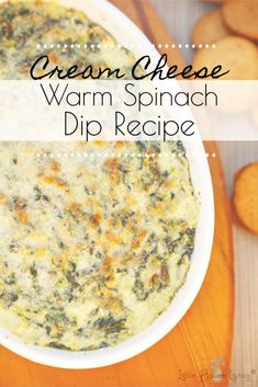 Warm Spinach Dip, Homemade Spinach Dip, Baked Spinach Dip, Cream Cheese Spinach, Cream Cheese Snacks, Fresh Spinach Dip Recipe Easy, Recipe For Cream Cheese, Cracker Dip Cream Cheese, Spinach Dip Recipes