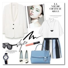 """""""Get the look"""" by vkmd ❤ liked on Polyvore featuring MANGO, Monki, Dolce&Gabbana, Chiara Ferragni, MICHAEL Michael Kors, Grey Ant, Eyeko, Stührling, NARS Cosmetics and White House Black Market"""