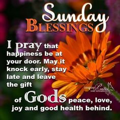 821 Best Sunday Blessing! images in 2019 | Sunday ...