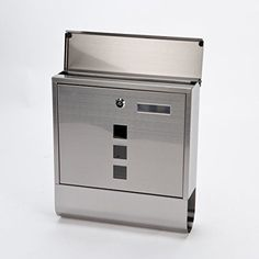 ARBORIA - Lockable Steel Wall Mounted Post Letter Mail Box With Newspaper Holder