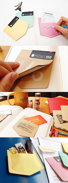Sticky notes are the best. They come in all shapes & sizes and have endless uses! But the Pocket Sticky Note is on another level. It's a sticky note WITH a real functioning pocket! That's right. The pants pocket designed sticky note has an actual pocket that will hold real life things! The slim pocket is perfect for storing small items like cards, receipts, cash, mementos, and more. Great for using with your scrapbook, planner, or album, this is the next must-have for your stationery…