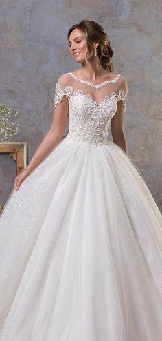 Illusion lace wedding dress    #wedding #weddings #weddingideas #aislesociety #weddingdress