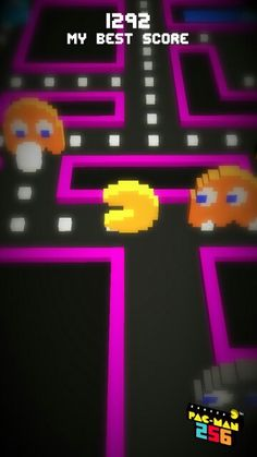 My best score in Pac man 1292
