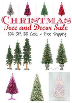 Christmas Tree Sale – Save 50 percent off ALL Christmas Plus 15 percent off Coupon Code Plus Cash Back #HotDeals