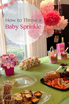 How to host a baby sprinkle | Tips for hosting a baby shower for second, third, or fourth babies | Gift and celebration ideas for moms expecting baby no. 2, no. 3, no. 4...