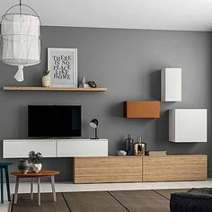 Minimalist, elegant 'Orange' TV Unit. High quality materials, wood and beautiful colours. My Italian Living