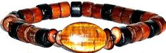 Men's Bracelet Tiger's Eye and Wood  Faith by ANenaJewelry on Etsy, $45.00