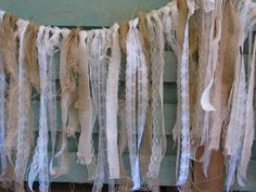 Lace and Burlap Garland / Curtain 6ft x 2ft by ExpressYourJourney, $70.00 (I think we could make this!)