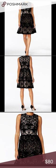 Tommy Hilfiger Black velvet lace dress size 8 NWT Really great dress just a little too big for me. Brand new with tags. Non smoking house. Tommy Hilfiger Dresses