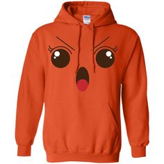 Angry Face Emoji T shirt -01 Pullover Hoodie 8 oz