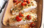 Baked cod with a herby lemon crust - Heart Matters magazine Baked Cod Recipes, Fish Recipes, Snack Recipes, Snacks, Chicken And Chickpea Curry, Grilled Tomatoes, Recipe Finder, Gluten Free Baking, Cooking Time