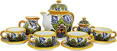 If you are searching for an elegant tea set to use not only for special occasions, but also for everyday use, then try our handmade Talavera tea sets. With every tea set having its own unique design, you are sure to find a tea set that you will love. These Talavera tea sets are 100% lead free, microwave safe, and wont easily chip or crack. Each tea set is available in a 4, 6, or 8 person setting.