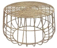 Selamat Luna Jute Coffee Table, Natural, Add texture to any space with this jute-wrapped wire table. Each table is built with a wire frame wrapped in jute, for a look both sophisticated and relaxed at once. Wire Coffee Table, Wire Table, Outdoor Coffee Tables, Round Coffee Table, Patio Tables, Sofa Tables, Console Tables, Dining Chair, Jute