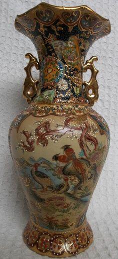 Antique 19thc Japanese Meiji 1868 1912 Miniature Satsuma Vase Made