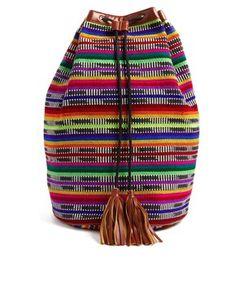 Image 1 - ASOS - Sac à dos bourse à motif aztèque et perles de rocaille