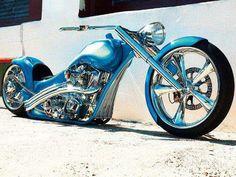 Custom Paint Chopper motorcycle
