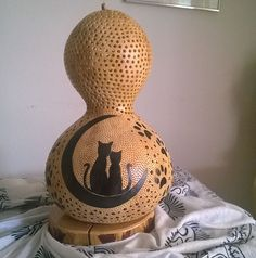 Handmade Gourd Lamp 'The Claw' Recommended For Nurseries & Kids